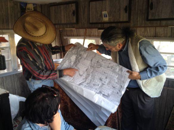 Virgil Trajillo and David Lopez explain the Abiquiu Landgrant in Vallecito, NM