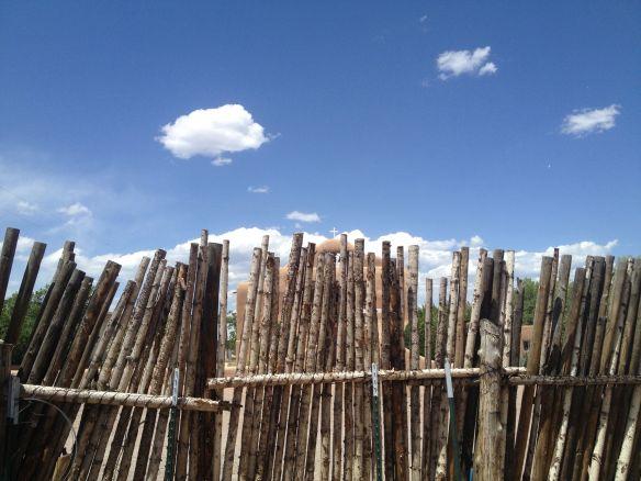 Coyote Fence in Abiquiu Plaza
